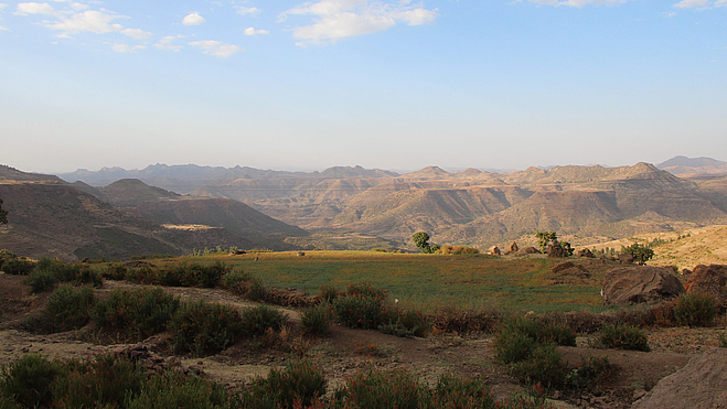 The idyll of the barren landscape in Dehana